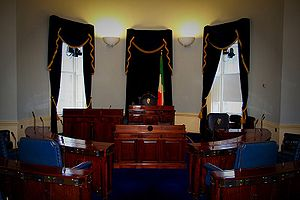 This is a photograph of the Seanad chamber, Le...