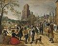 Sebastiaan Vrancx - Autumn, market scene in the heart of a village.jpg