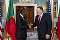 Secretary Pompeo Meets with Benin President Talon (49455289102).jpg