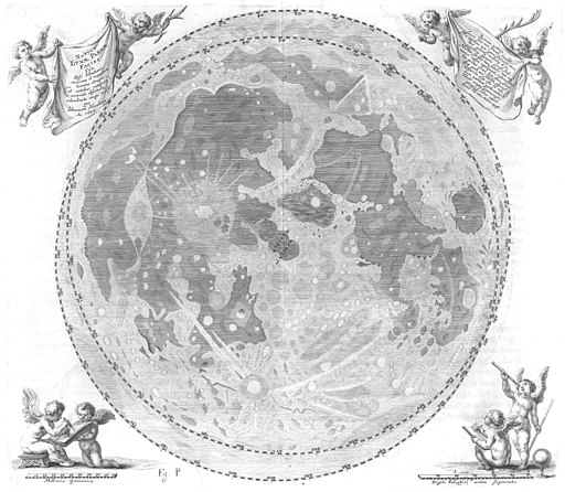 Selenographia map of moon