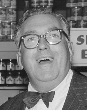 Selwyn Toogood - Selwyn Toogood at a store opening in Wellington, 1956