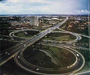 Semanggi Interchange - Semanggi Interchange in 1976
