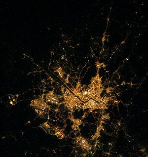 Seoul Capital Area - Satellite image of Seoul and greater area