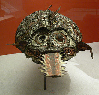 Sawfish - A mask with a sawfish rostrum from Sepik, Papua New Guinea, now housed at the Ethnological Museum of Berlin