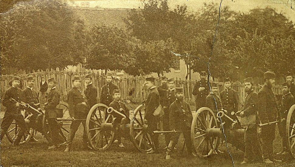 Serbian artillery during Serbian–Ottoman wars