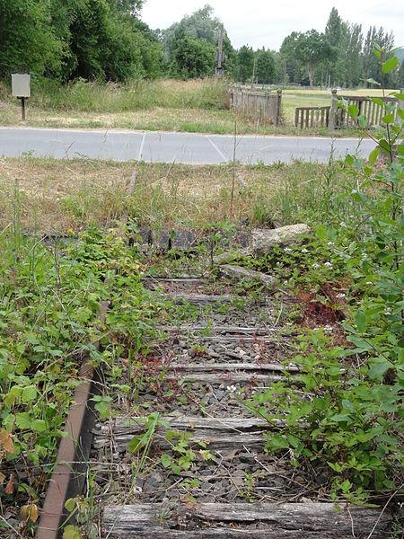 Sermoise (Aisne) ancienne voie ferrée