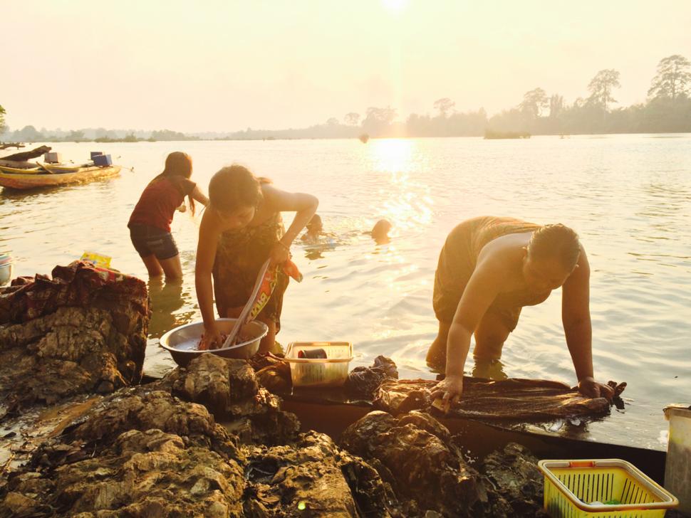 Sesan River in Stueng Treng, Cambodia