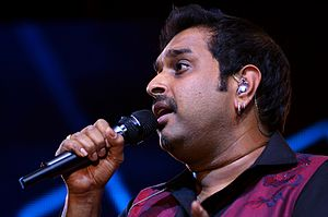 Shankar Mahadevan performing with Shankar-Ehsaan-Loy Trio at Idea Rocks India concert in Bangalore. (6 April 2013) (photo - Jim Ankan Deka)