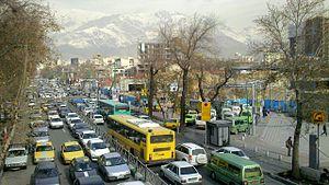 Gheytarieh - Shariati street lower Qeytarieh intersection.