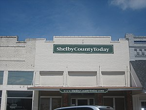 Shelby County, Texas - Image: Shelby County Today on line newspaper in Center, TX IMG 0959