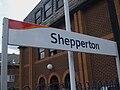 Shepperton station signage.JPG