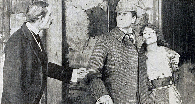 Film Still from A Scandal In Bohemia 1916