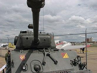 Gun mantlet - Image: Sherman Tank M4 A2 E8 (639067571)