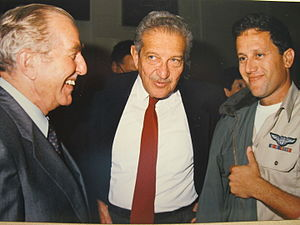 Shimshon Rozen - Rozen with former Israeli presidents Chaim Herzog and Ezer Weizman