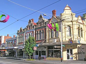 Elsternwick, Victoria - Victorian shopfronts on the corner of Glen Huntly and St Georges Roads
