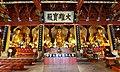 Shrine to the Five Tathagathas (五方佛 Wǔfāngfó) or Five Wisdom Buddhas (五智如来 Wǔzhì Rúlái), in Kaiyuan Temple (開元寺 or 开元寺) in Quanzhou, Fujian, China.jpg