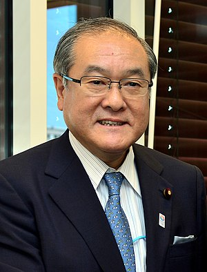 Minister of the Environment (Japan) - Image: Shunichi Suzuki cropped 2 Shunichi Suzuki and Yukiya Amano 20130701