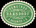Siegelmarke Gemeinde Raasdorf bei Oelsnitz im Vogtland W0252346.jpg