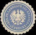 Siegelmarke K.Pr. Landrath des Kreises Lübbecke W0342705.jpg