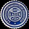 Siegelmarke Kaiserlich Königliche Bezirkshauptmannschaftliche Schubstation Baden bei Wien W0215790.jpg