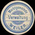 Siegelmarke Marktgemeinde Verwaltung Weiler W0261567.jpg