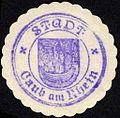 Siegelmarke Stadt Caub am Rhein W0229277.jpg