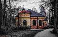Sieht aus wie eine Bauruine, ist aber keine! Das Aussehen der Magdalenenklause im Nymphenburger Park München ist so vom Bauherrn voll beabsichtigt gewesen. (14532381232).jpg