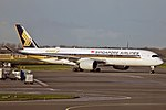 Singapore Airlines A350-941 (9V-SMF) taxiing at Amsterdam Airport Schiphol (1).jpg
