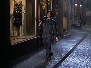 Singin' in the Rain (song) - Gene Kelly performing the song in the 1952 film Singin' in the Rain.