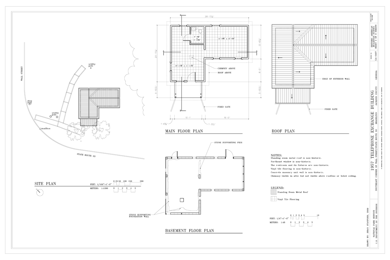 File:Site Plan, Basement Plan, Main Floor Plan, And Roof