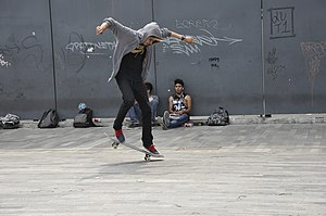 Nollie - Image: Skateboarding at Mexico City Flip 041