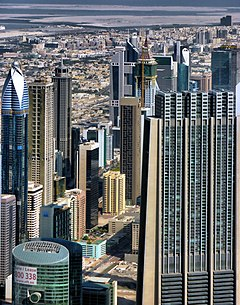 Skyscrapers from the Burj Khalifa - panoramio.jpg