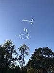 Skywriting at Easter 2017 in Brisbane 01.jpg