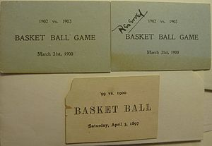 Senda Berenson Abbott - College basketball tickets, issued for interclass women's basketball games in 1897 and 1900.