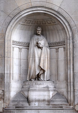 John Soane - Statue of Sir John Soane at the Bank of England, London