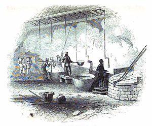 Benjamin Hawes - The Hawes Soap Works, 1843 engraving