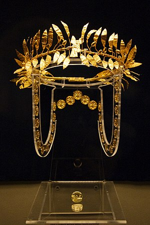National Historical Museum (Bulgaria) - Wreath of an Odrysian aristocrat, 4th century