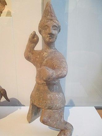 Han–Xiongnu War - An Eastern Han ceramic figurine of a Soghdian caravan leader of the western trade routes