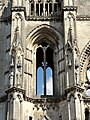 Soissons (02), abbaye Saint-Jean-des-Vignes, abbatiale, tour nord, 1er étage, vue depuis l'ouest 2.jpg