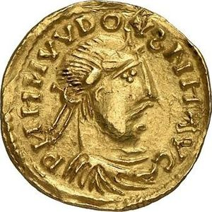 Harald Klak - Solidus of Louis the Pious, ca. 9th century