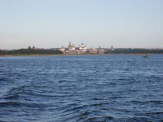 Bolshoy Solovetsky Island - Solovetsky Monastery seen from the sea