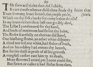 Sonnet 99 poem by William Shakespeare