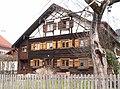 Sonthofen - Berghofen - Burgweg - Fachwerkblockhaus v SO.JPG