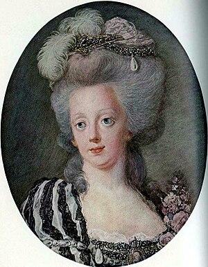 Niclas Lafrensen - Portrait of Queen Sophia Magdalene of Sweden, circa 1792