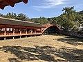 Soribashi Bridge and west corridor of Itsukushima Shrine.jpg