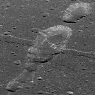 Sosigenes (crater) - Irregular mare patch crossing Rima Sosigenes