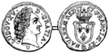 Sou copper coin coined for Louis XV of France 1767.png