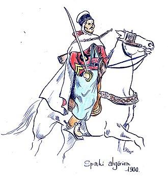 Spahi - Algerian Spahi trooper (c.1900)