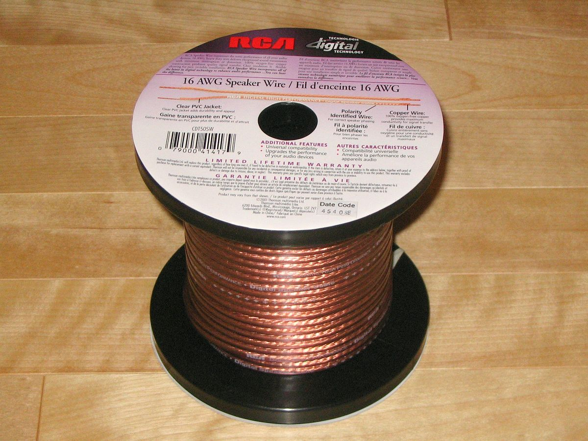 Speaker Wire Wikipedia White Sheathed Old Colours Red Black 6mm Twin Earth Wiring Cable