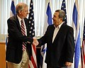 Special Assistant to the President Ross Shakes Hands With Israeli Defense Minister Barak (4863284269).jpg
